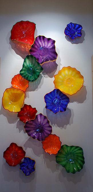 Glass Wall Sculpture, Glass Wall Flowers