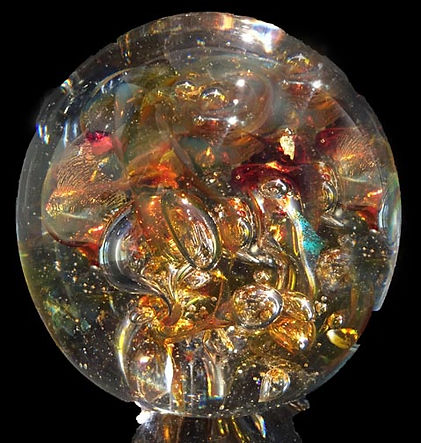 Glass with Ashes | Ashes Into Glass | Glass Cremation Jewelry | Memorial Glass Art| Ashes Into Glass Paperweight