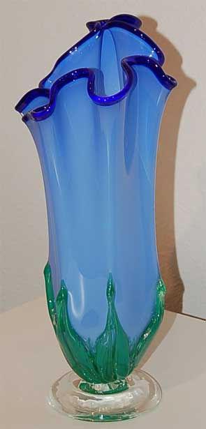 Blown Glass Art Vase, Glass Art Vase