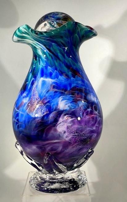 Blown Glass Urn | Hand Blown Glass Urn | Glass Urn