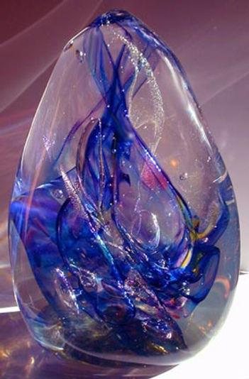 Blown Glass Paper Weights, Blown Glass Corporate Awards