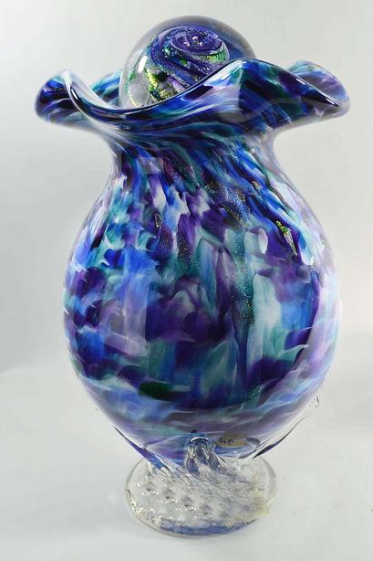 Blown Glass Urn | Glass Blown Cremation Urn | Hand Blown Glass Cremation Urn