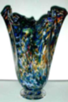 Blown Glass Boquet Vase, Hand Blown Glass Boquet Vase