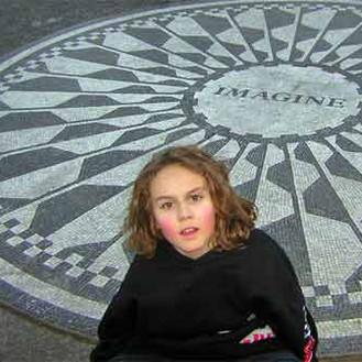 Eiljah at the John Lennon Memorial