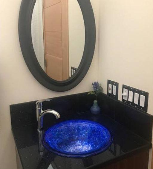 Glass Sink | Blown Glass Sink | Custom Glass Blown Sink