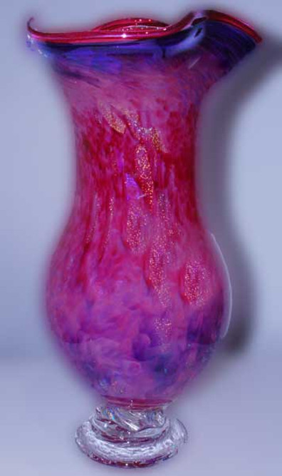 Glass Cremation Urn, Blown Glass Urn