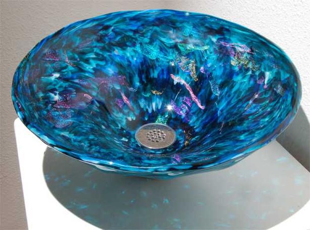 Glass Sink | Designer Glass Vessel Sinks | Glass Bathroom Sink | Blown Glass Sink Bowl | Glass Basin Sink | Glass Blown Sink |