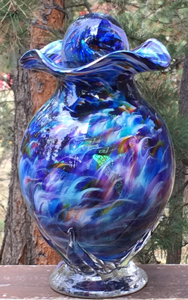 Glass Urn | Blown Glass Urn | Hand Blown Glass Urn