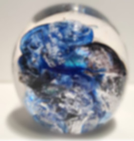 Blown Glass with Ashes, Ash Glass Art
