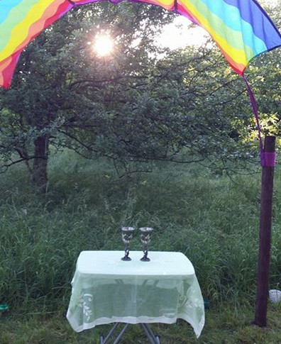 Summer solstice ceremony arch