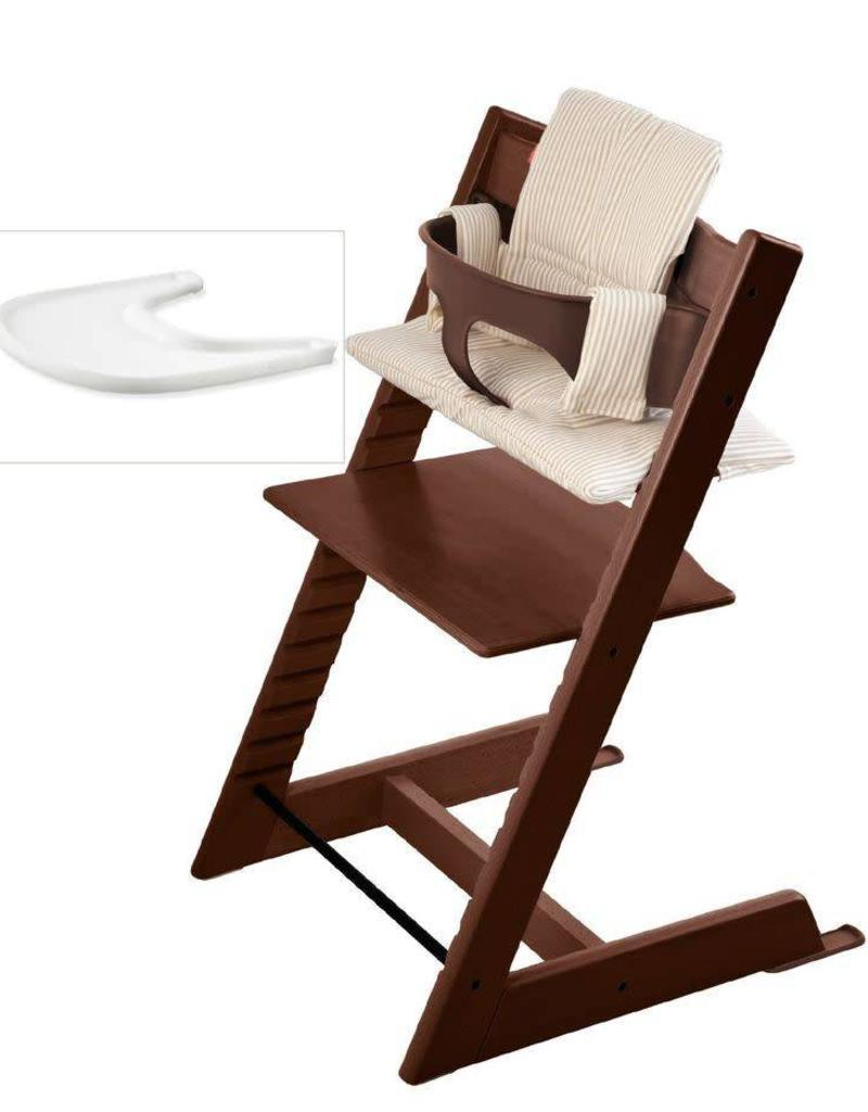 Knowledgeable Stokke Tripp Trapp High Chair walnut / Dark Brown High Chairs
