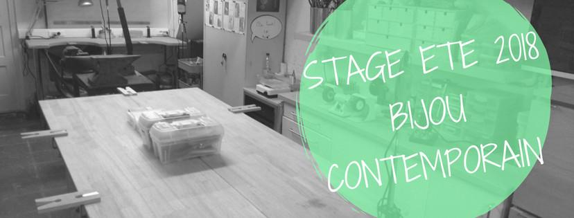 Stage Bijou Contemporain Bruxelles ETE 2018