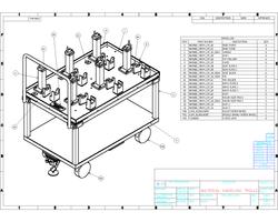Material handling trolley drawing
