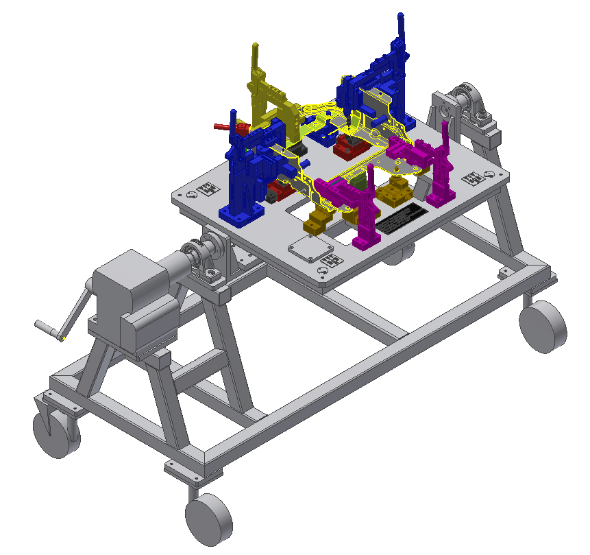 Fuel Tank Assembly Welding Fixture 2