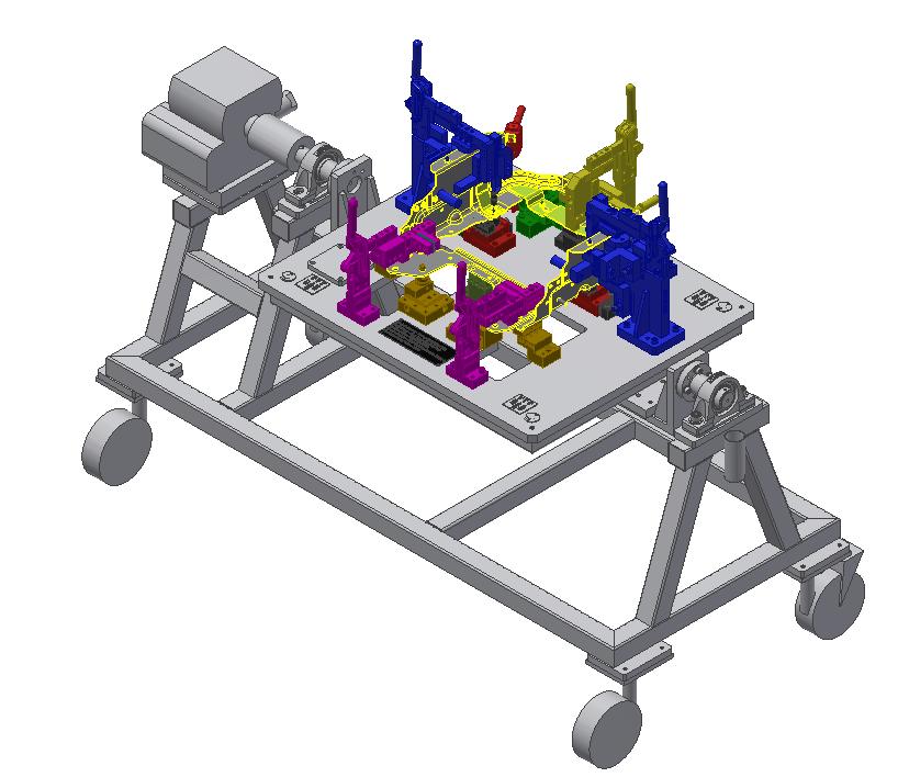 Fuel Tank Assembly Welding Fixture 1