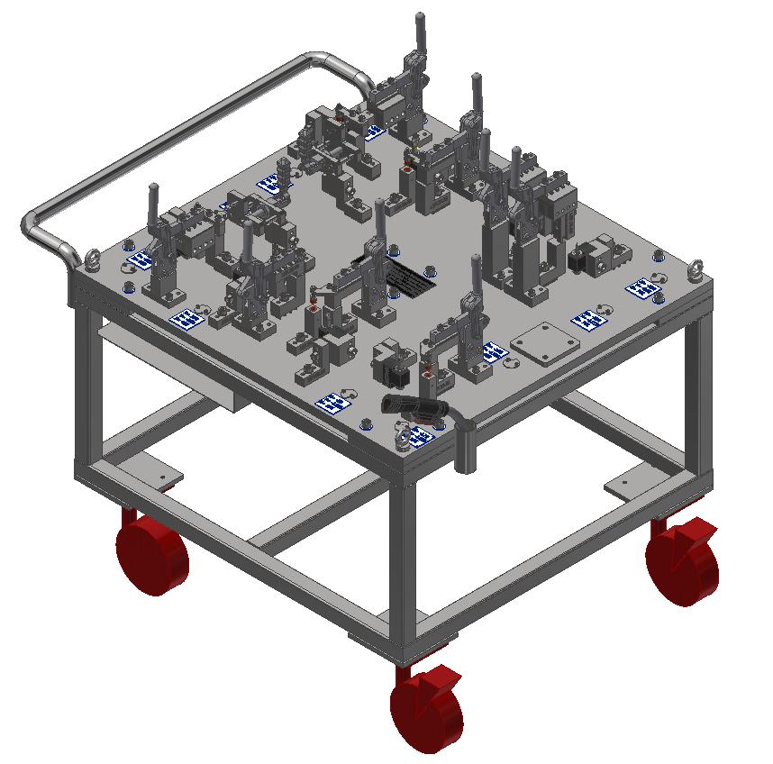 Fuel Tank Assembly Welding Fixture 4