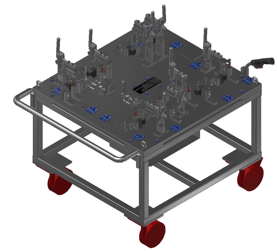 Fuel Tank Assembly Welding Fixture 5