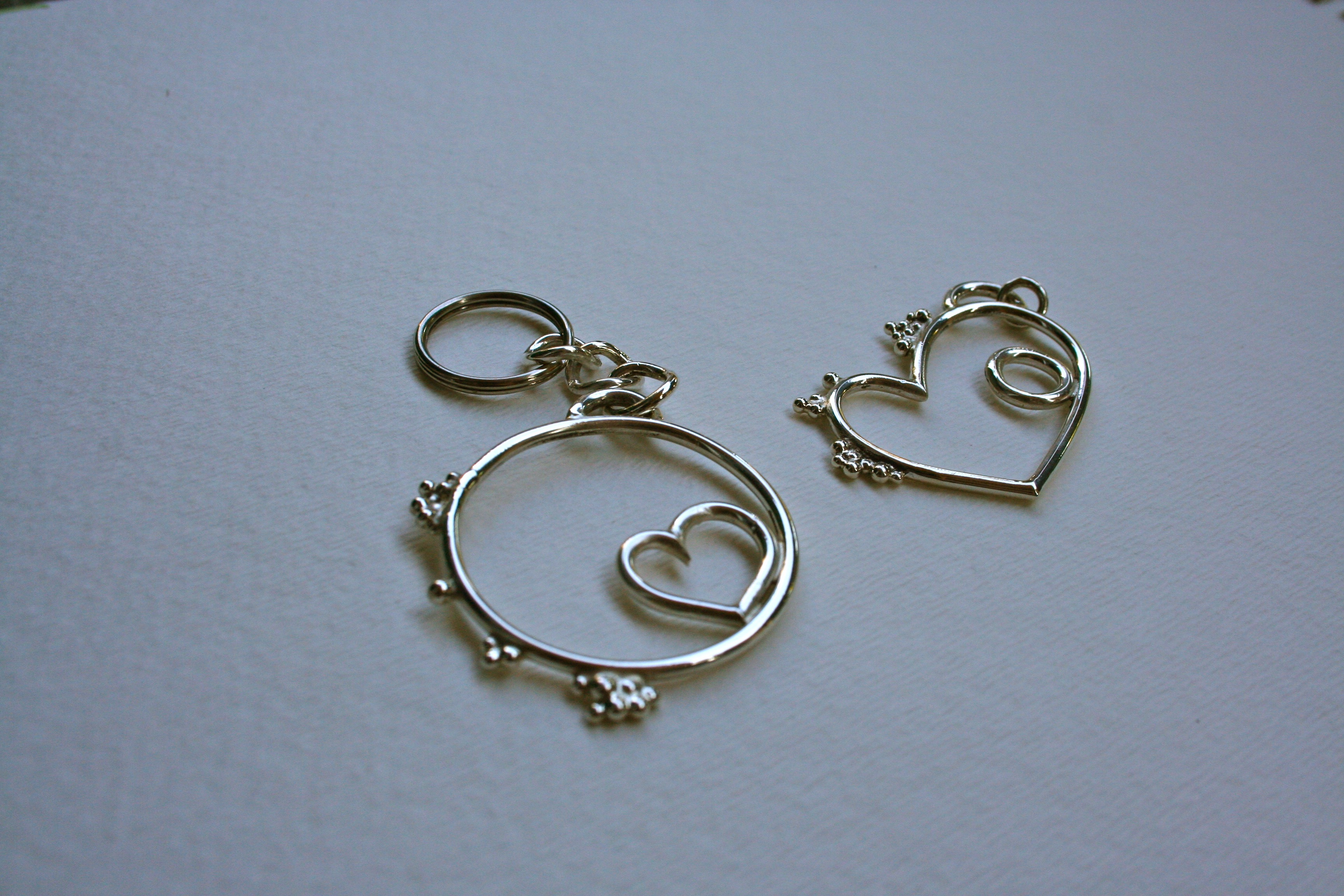 Keychain and Necklace pair