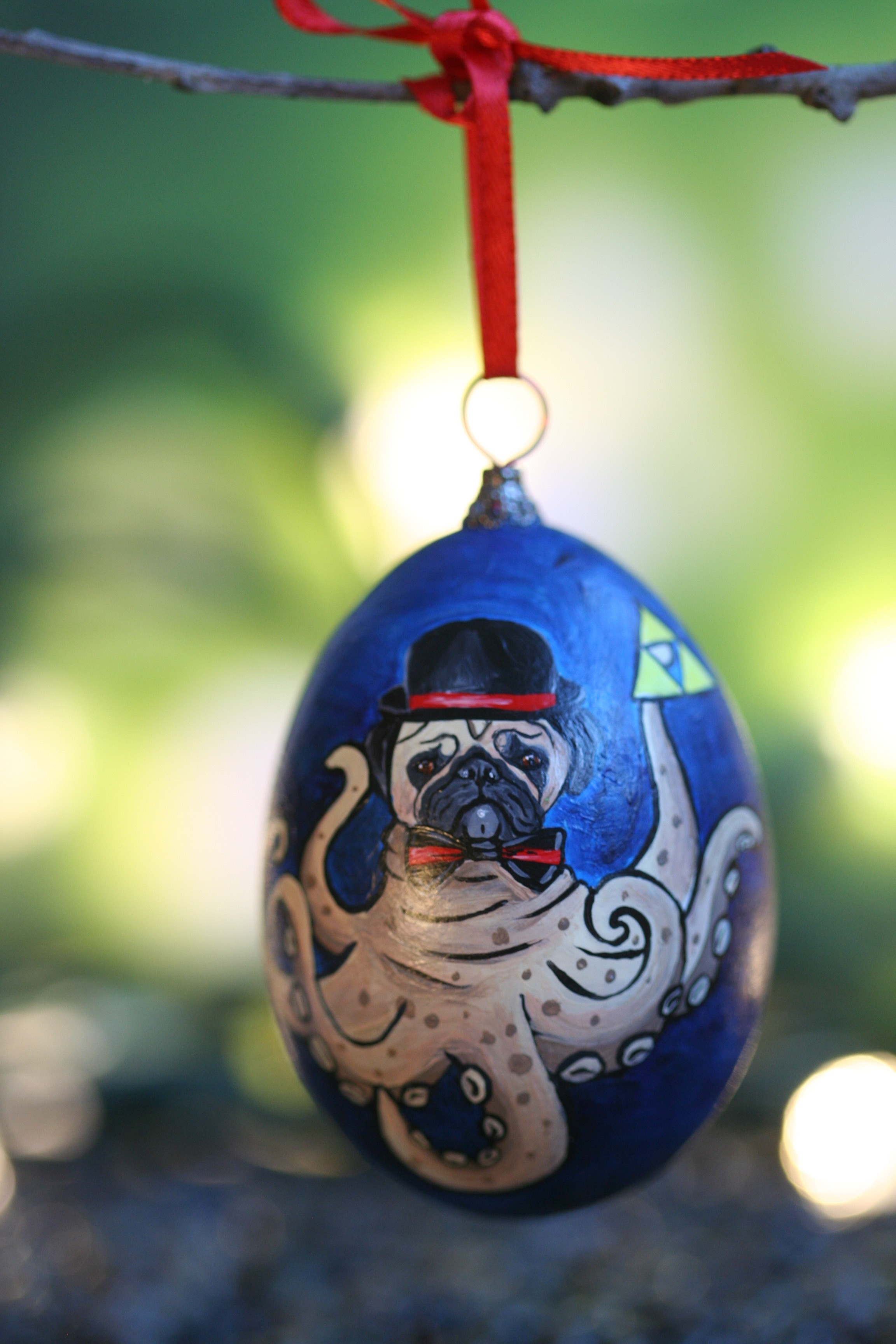 Pug, Octopus, Zelda Ornament