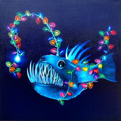 Anglerfish with Christmas Lights - Part 2 of triptych