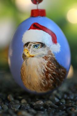 Santa Hawk Ornament