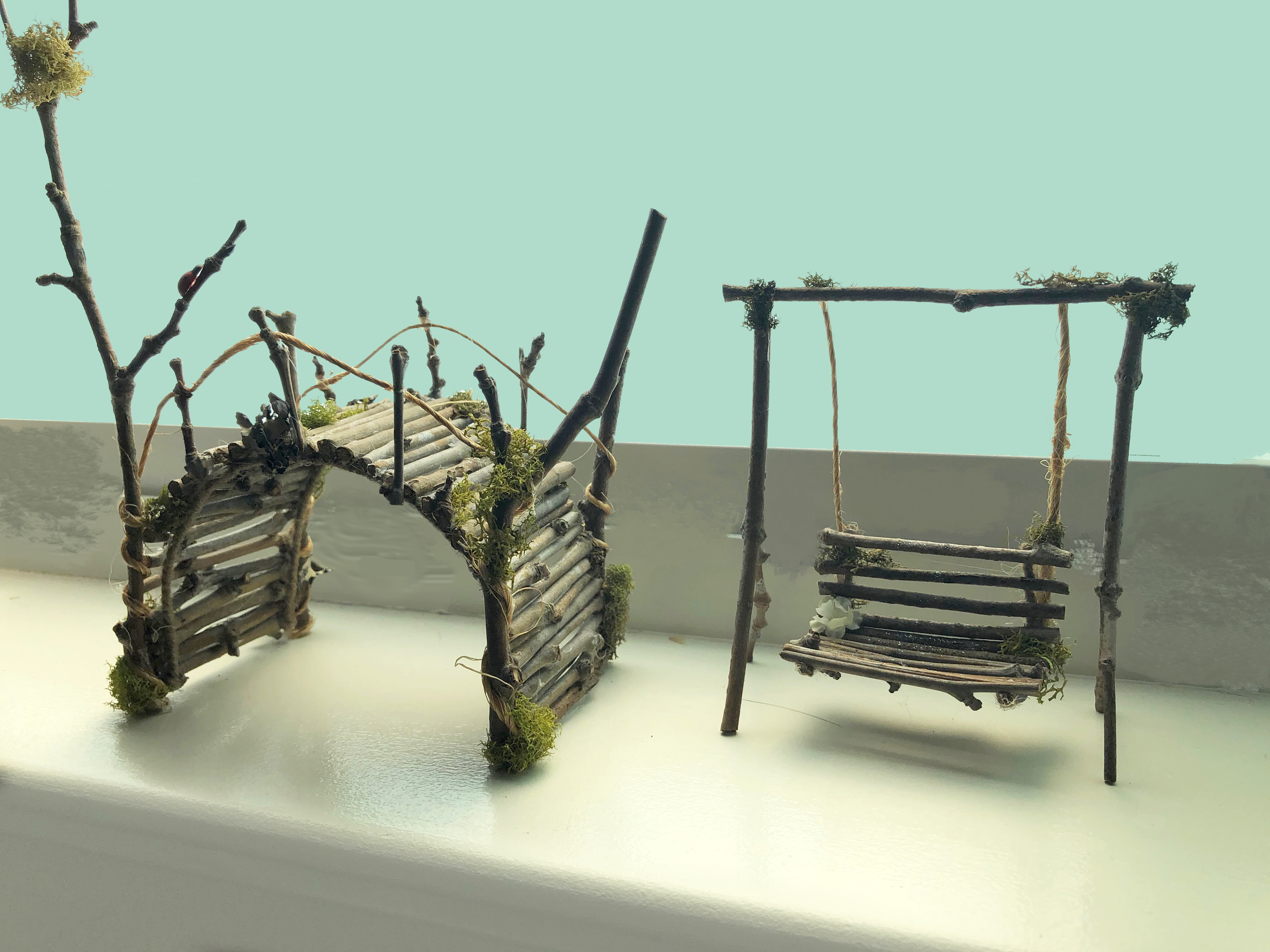 Fairy Garden Bridge and Swing