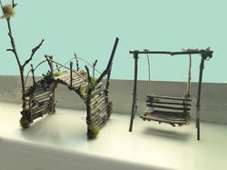 Fairy Garden Bridge and Swing