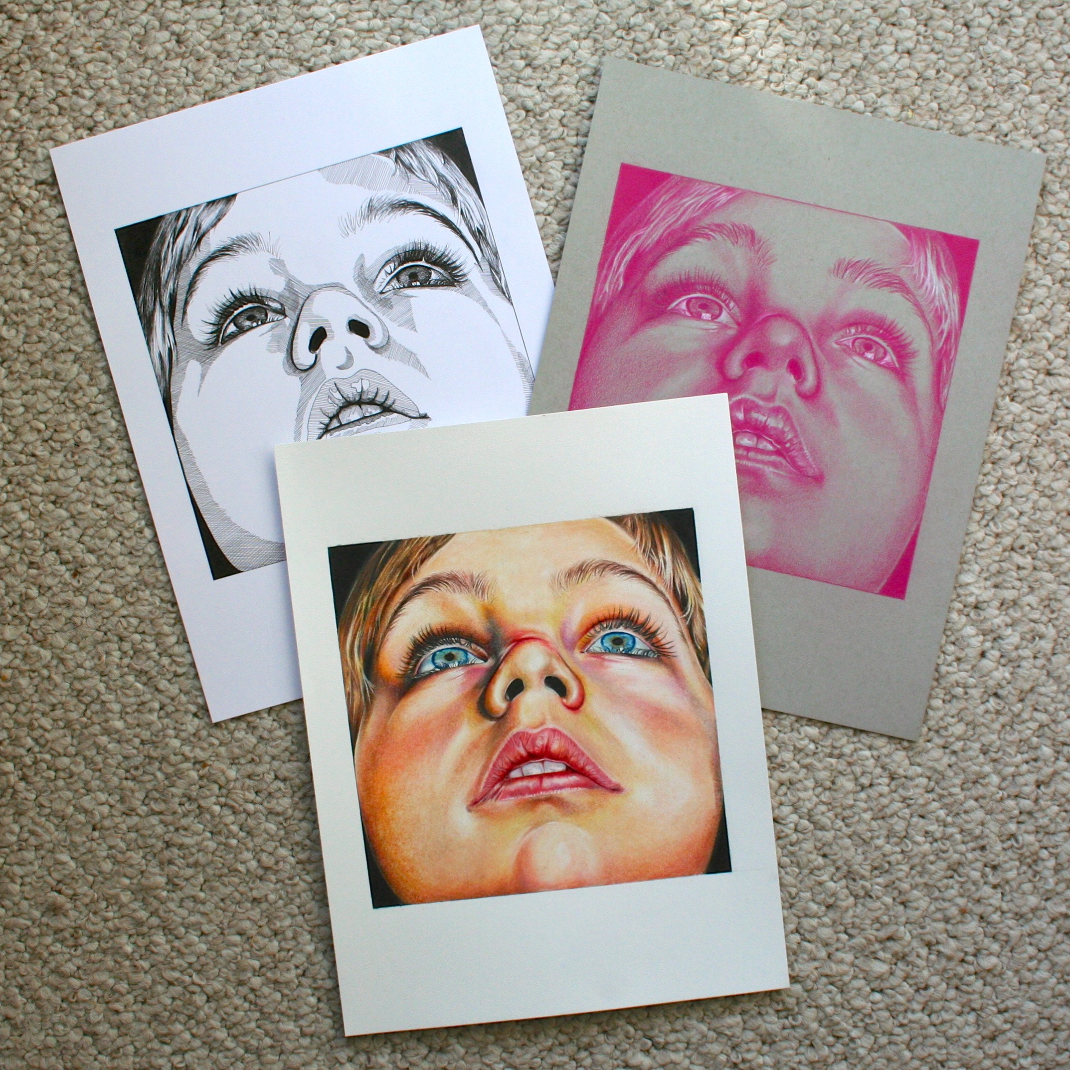 Little Boy - Triptych - All