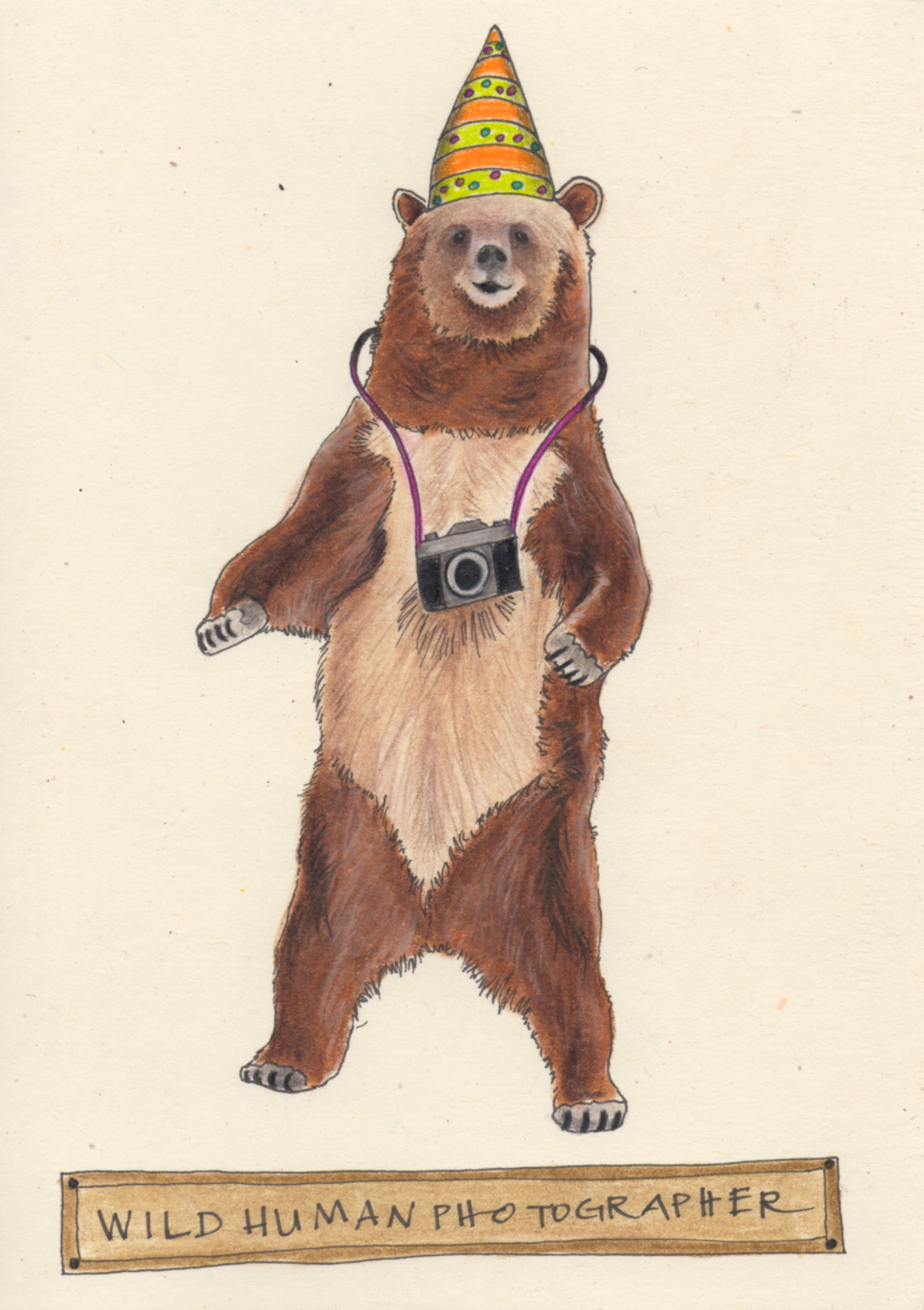 Bear Photographer Card