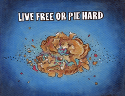 Live Free or Pie Hard Award Card
