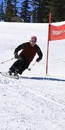 Telemark ski racer