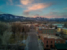 Beautiful sunset over Salida, CO