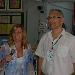 Apresentadora da Folha Educativa e Prof. Dr. Elifas Levi