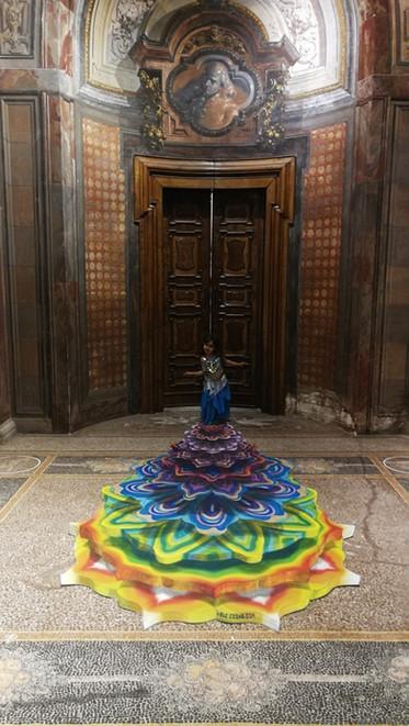 3D Painting  _Mandala Mechanics_  OrienteDay Festival _ Milano_ Italy 2019