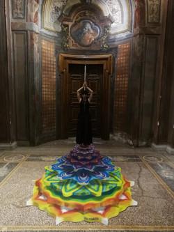 ChakrasWheels -paint on floor canvas