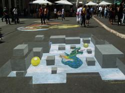 gouache on floor-Sarajevo-
