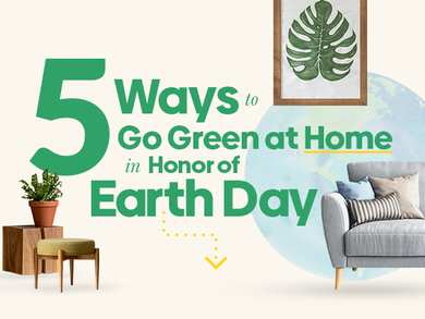 5 Ways to Go Green at Home in Honor of Earth Day