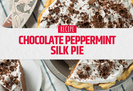 Chocolate Peppermint Silk Pie