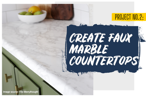 Create Faux Marble Countertops