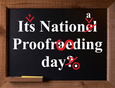 Say Thanks on National Proofreading Day