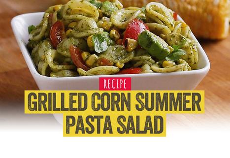 Grilled Corn Summer Pasta Salad