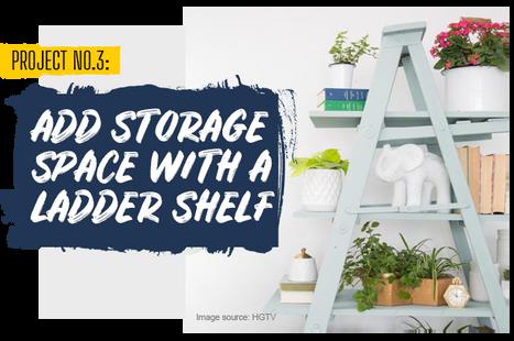 Add Storage Space With a Ladder Shelf