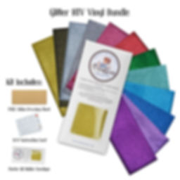 Ovation Crafts Glitter HTV Vinyl Bundle