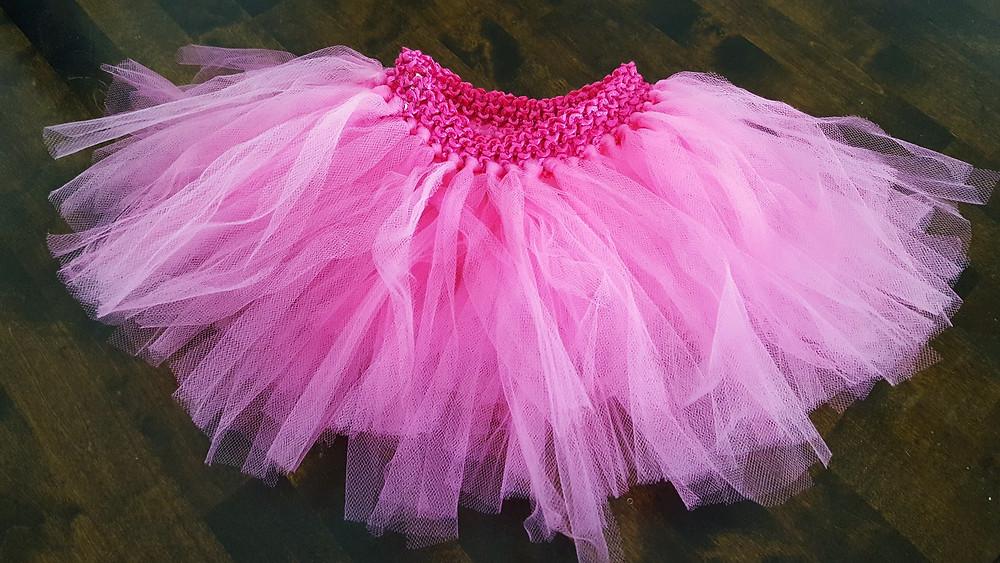 Girl's pink tulle tutu