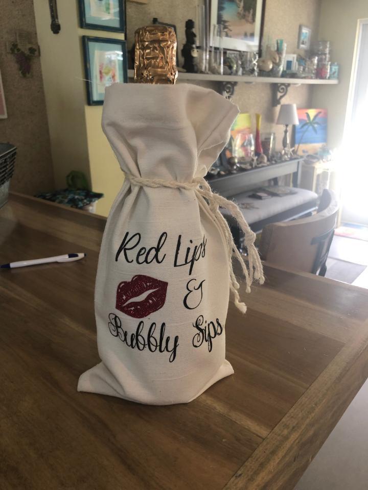 HTV on wine bag