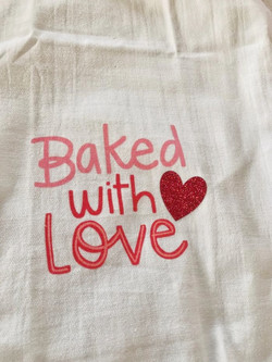 HTV Valentine's Day tea towel