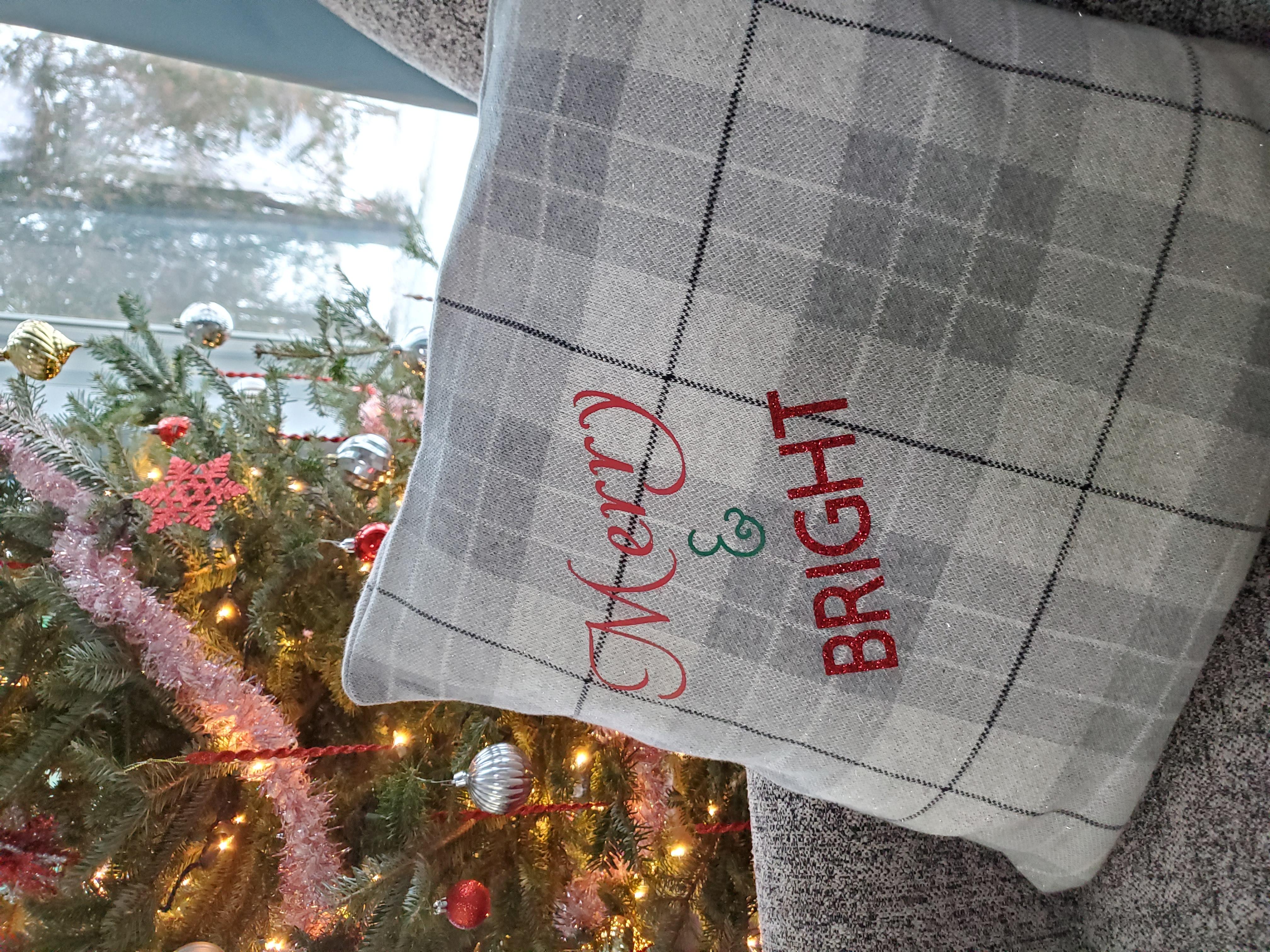 HTV Christmas Pillow