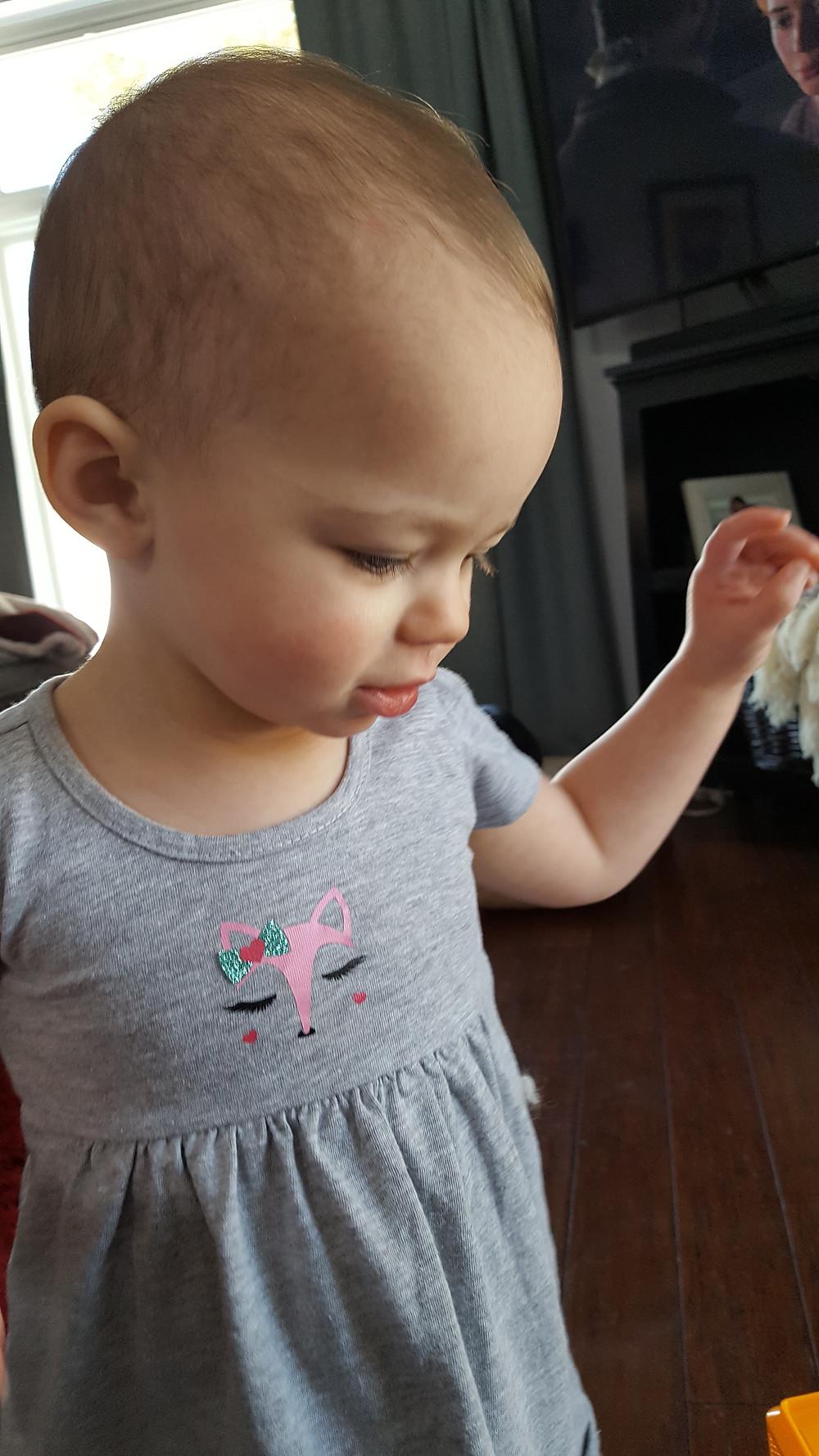 Toddler dress with Heat Transfer Vinyl (HTV) girl fox