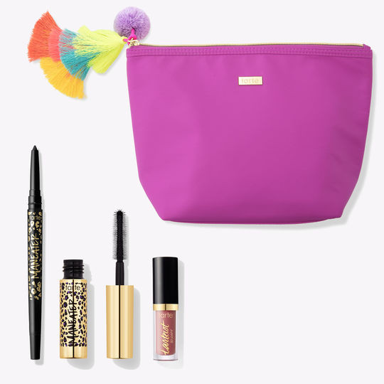makeeup bag with cosmetics