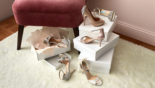 formal shoes. high heels and boxes